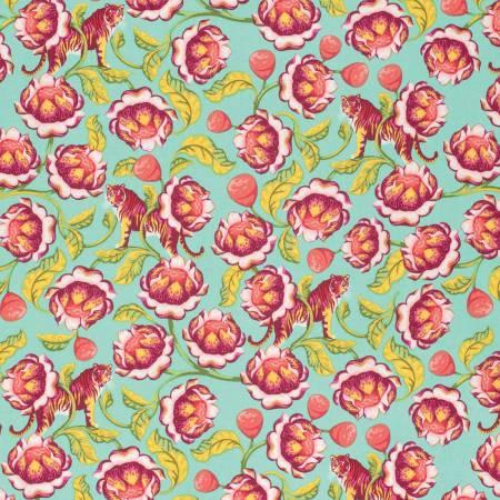 Tula Pink Eden Lotus Tomato