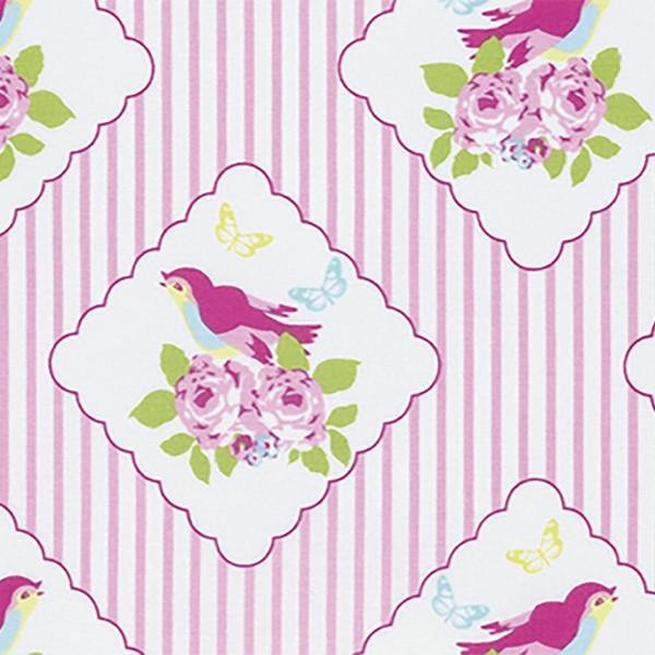 Zoeys Garden Pink Framed Birdies