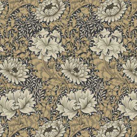 108 Wide Backing- Taupe Chrysanthemum