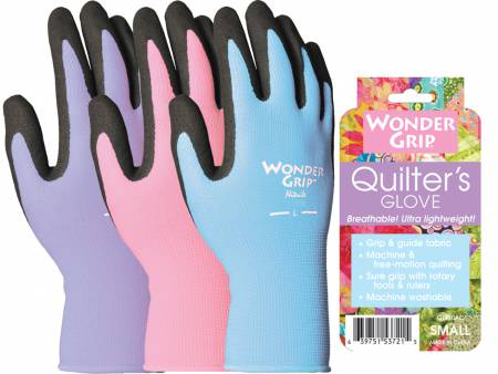 Wonder Grip Quilters Gloves Assorted Colors Large