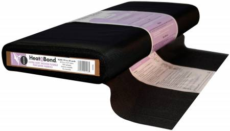 Ultra Soft Woven Fusible for Batik Fabric Black 19in Wide Q2506