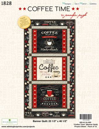 Coffee Time Banner Quilt Kit