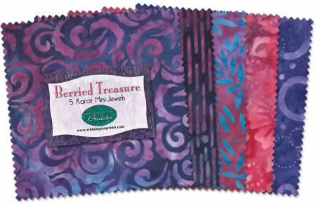 5in Squares Batiks Berried Treasure 24pcs - Wilmington Prints