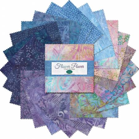 Batiks Fall 2019 Flower Power, 24pcs, 5in Squares