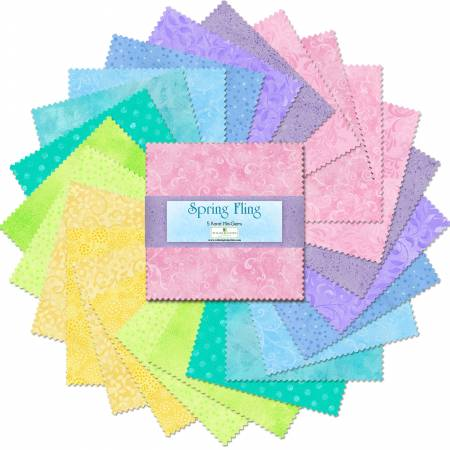 5in Squares Spring Fling 24pcs/bundle