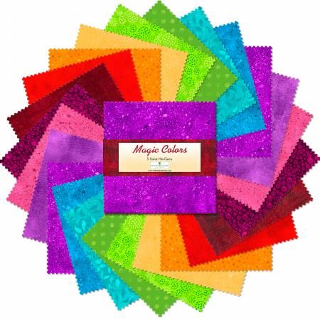 5in Squares Magic Colors 24pcs/bundle, 15 bundles per pack