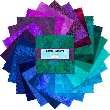 5in Squares Essential Gems Royal Nights 24pcs