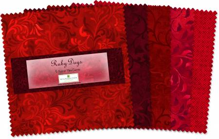 5in Squares Ruby Days 24pcs/