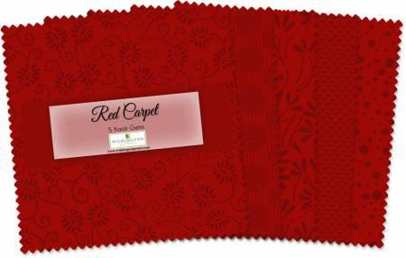 5in Squares Red Carpet 24pcs/bundle