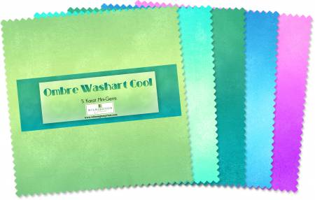 5in Squares Ombre Washart Cool 24pcs