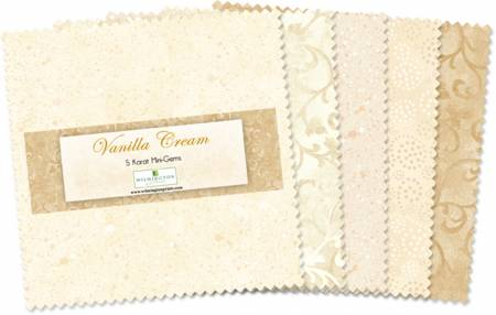 5in Squares Vanilla Cream 24pc