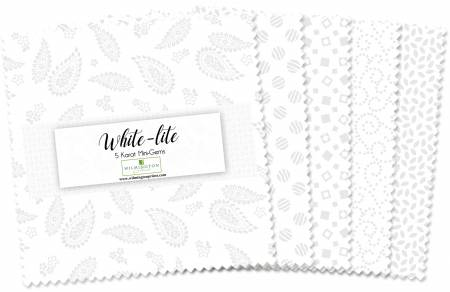 5in Squares Essential Gems White-Lite, 24pcs