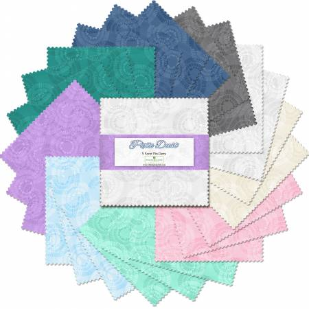 Charm Pack 5 Fabric precuts:  Pixie Dust