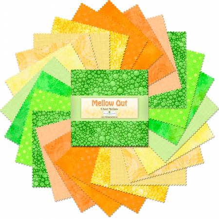 Charm Pack 5 Fabric precuts: Mellow Out