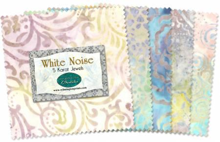 5in Squares White Noise 42pcs/bundle