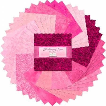 5in Squares Pinking Of You 42pcs/bundle