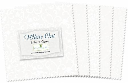 5in Squares White Out - 42 pieces
