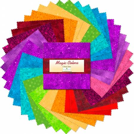 5in Squares Magic Colors 42pcs/bundle, 12 bundles per pack
