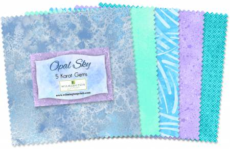 5in Squares Essential Gems Opal Sky 42pcs