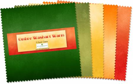 Ombre Washart Warm 5 Squares
