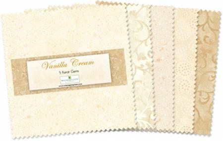 5in Squares Vanilla Cream 42pcs/bundle, 12 bundles per pack