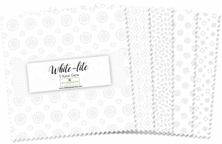5in Squares Essential Gems White-Lite 42pcs