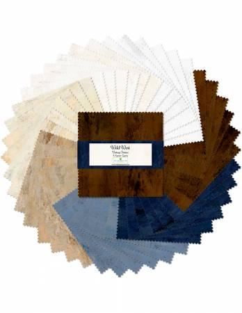 5in Squares Essential Wild West, 42pcs, 12 bundles/pack