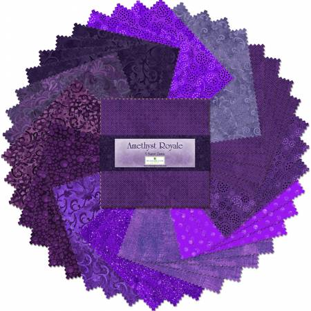 5in Squares Amethyst Royale 42pcs/bundle, 12 bundles per pack