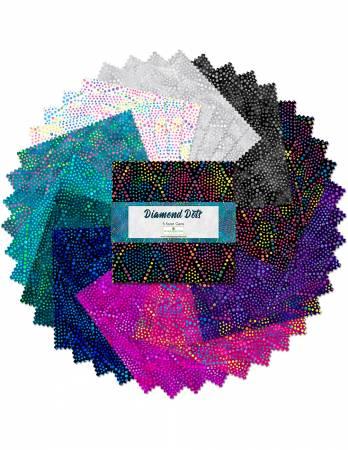 5in Squares Essentials Diamond Dots, 42pcs