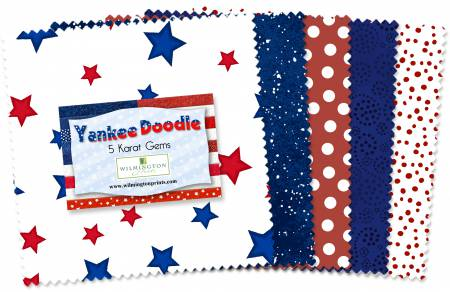 5in Squares Yankee Doodle 42pcs