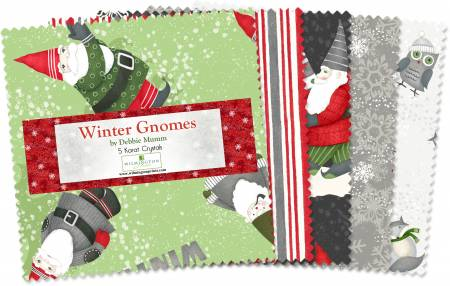 Winter Gnomes 5in Squares