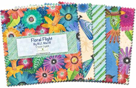 5 Karat Crystals Floral Flight