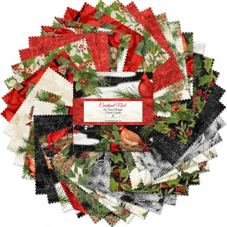 5in Squares Holiday in the Woods, 42pcs
