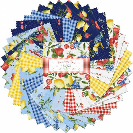 5in Squares The Berry Blast, 42pcs, 12 bundles/pack