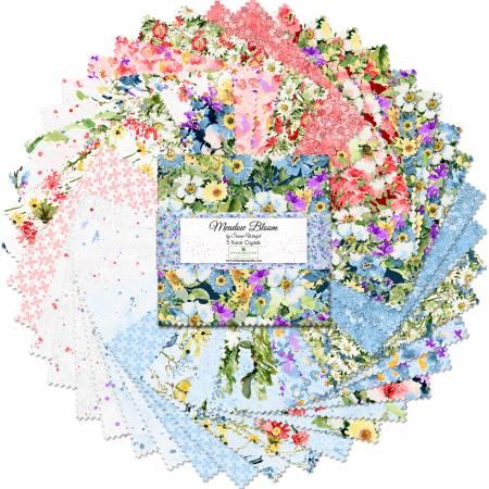 5in Squares Meadow Bloom, 42pcs, 12 bundles/pack