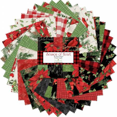 Season of Heart by Wilmington Prints-5 squares, 42 pieces-Q508-687-508