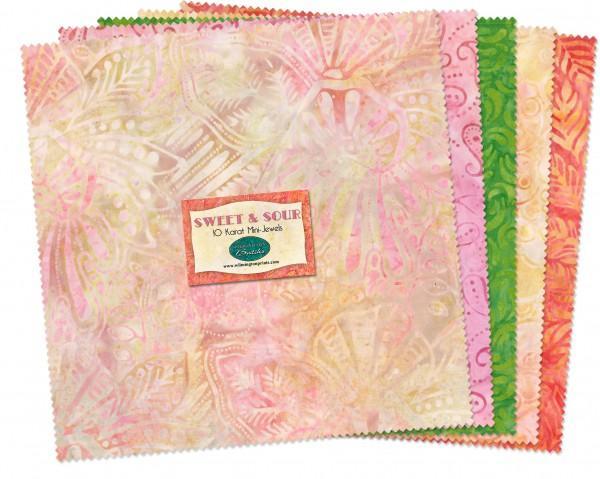10in Squares Sweet & Sour Batik 24pcs