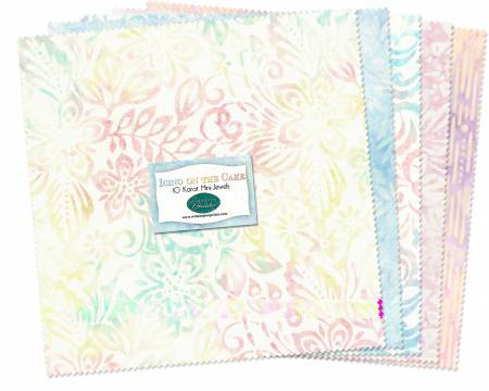10in Squares Batiks Icing on the Cake 24pcs