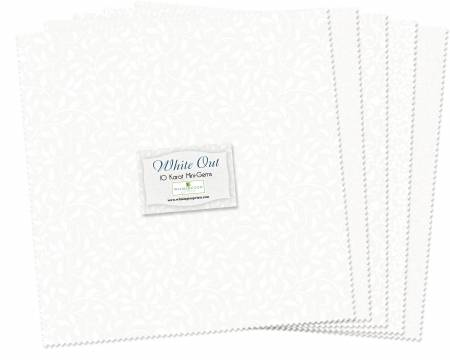 10in Squares White Out 24pcs/bundle, 6 bundles per pack