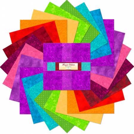 10in Squares Magic Colors 24pcs