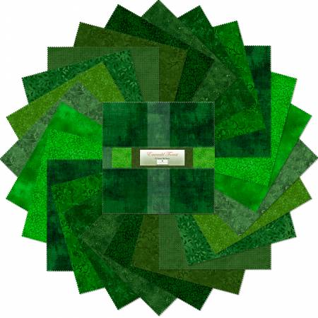 10in Squares Emerald Forest 24pcs