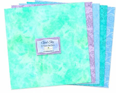 10in Squares Essential Gems Opal Sky 24pcs