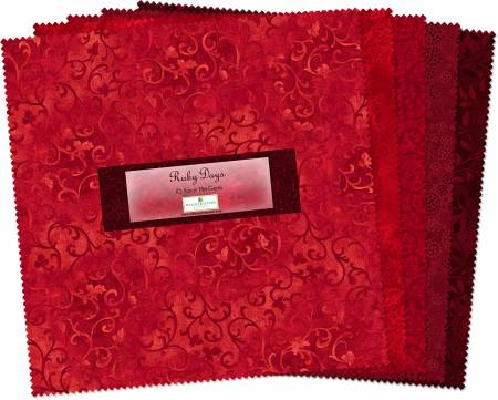 10in Squares Ruby Days 24pcs