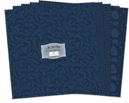 10in Squares Essenital In The Navy 24pcs