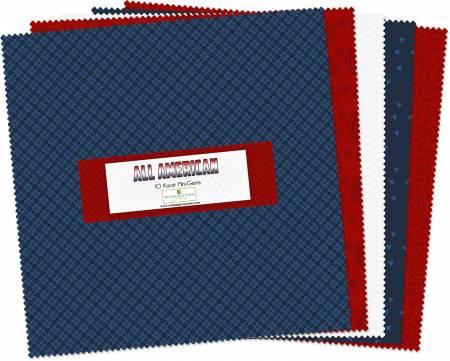 10in Squares All American Cool 24pcs, 6 bundles per pack