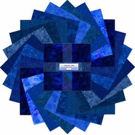 10in Squares Sapphire Sky 24pcs/bundle, 6 bundles per pack