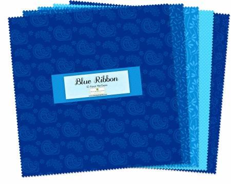 10 Squares Essentials Blue Ribbon 24pcs