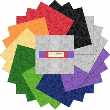 Layer Cake 10 Fabric precuts: Chasing Rainbows