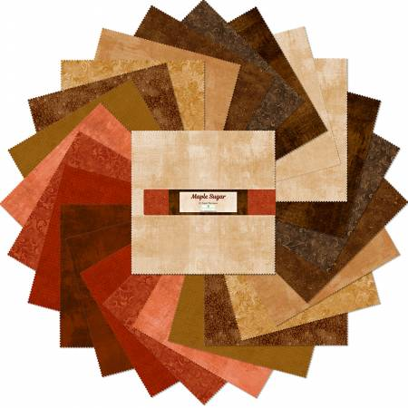 10in Squares Essential Gems Maple Sugar, 24pcs