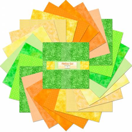 Layer Cake 10 Fabric precuts: Mellow Out